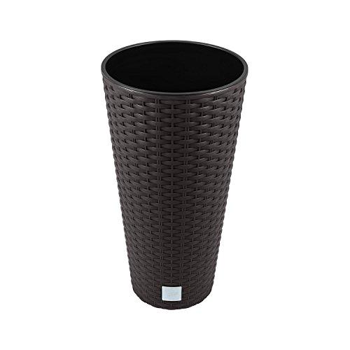 Zanvic Vaso di Fiori Vaso Vaso pianta Rivestimento dell'alloggiamento DRTUS Superficie Rotonda Rattan incl. 27 Litri