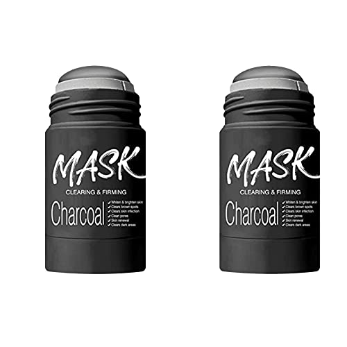 HHZZ 2PCS Blackhead Remover Mask, Bamboo Charcoal Peel Off Mask, Poreless Deep Cleanse Mask Stick, Purifying Clay Stick Mask, Gentle Natural Mask for All Skin Types