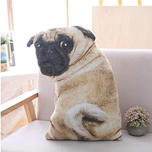 LANCOLD Pug Dog Plush Toys Soft Stuffed Animals Sofa Cushion Emulational Plush Dog Pillow