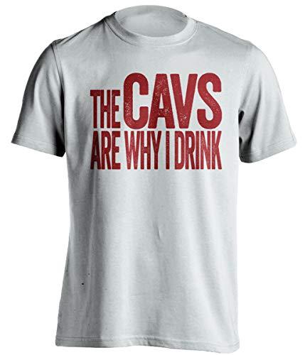 The Cavs are Why I Drink – Divertida camiseta de autoservicio – Versión roja y dorada – Death Ray Prints