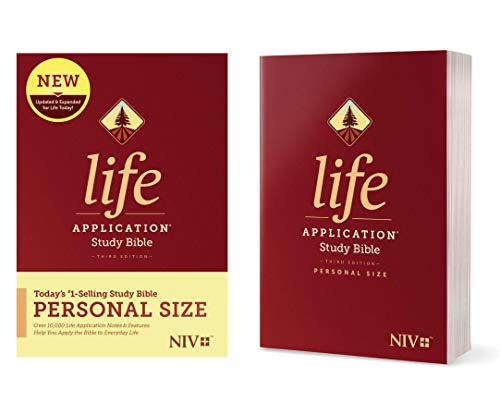 Tyndale NIV Life Application Study Bible, Third Edition, Personal Size (Softcover) – New International Version – Personal Sized Study Bible to Carry with you Every Day