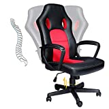 HZLAGM Office Chair PC Gaming Chair Ergonomic Computer Chair with Reclining Racing Chair with Lumbar Support Headrest for Back Pain Adults Teens Desk Chair-High Back+Red