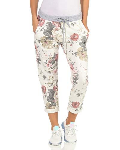 ZARMEXX Damen Sweatpants Baggy Boyfriend Sommerhose Sport All-Over Print One Size Muster 14 One Size (36-40)