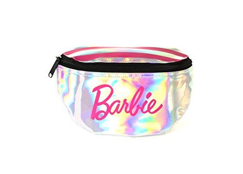 Spiral SP Barbie Stripes - Silver Bum Bag Riñonera de Marcha, 24 cm, 3 Liters, Plateado (Silver)