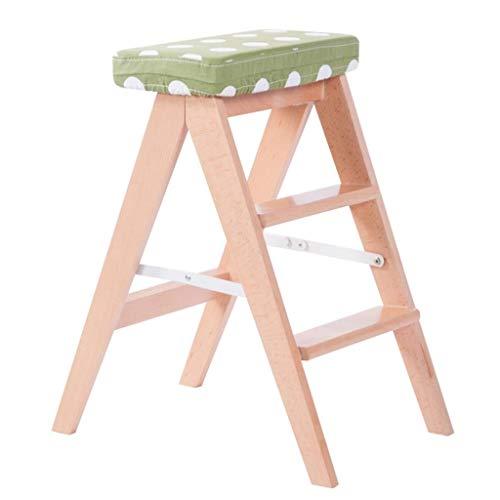 LUYIYI Folding Tritthocker Home Indoor Dining Chair Mehrzweck Verwenden Sie Easy Ladder Hocker 26.3X20.9X14.2in