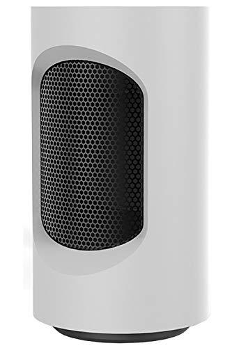 QIQI Calentador Eléctrico Espacial, Calentador Ventilador Portátil de 600 W para el Hogar y la Oficina,Blanco