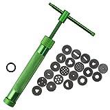 N/ A Edelstahl-Zuckerpaste Extruder Craft Gun Mit 20 Tipps Zuckerfertigkeit Fondant-Kuchen-Skulptur Polymer Clay Werkzeuge Küchenhelfer