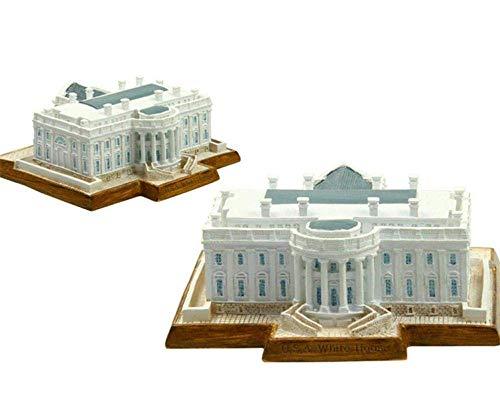 THj Ornaments World Architecture Model Das Weiße Haus der Vereinigten Staaten von Amerika Washingon USA 3D-Modell World Architecture Model Resin Crafts