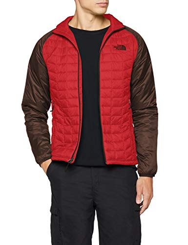 THE NORTH FACE Herren Thermoball Sportjacke, Rage Red/Bittersweet Brown, M