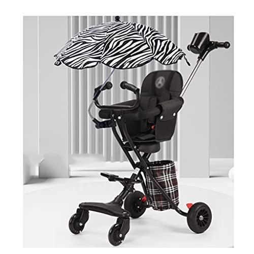 jiji sillas de Paseo El Cochecito de artefactos, la luz y la Plegable para bebés y niños pequeños de 1 a 6 años, Cuatro Caminatas de Ruedas para Caminar. Cochecito de bebé