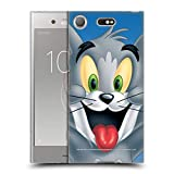 Head Case Designs sous Licence Officielle Tom and Jerry Tom Visage Complet Coque en Gel Doux...