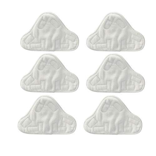 NaiCasy Durable Coussin en Tissu Lavable en Microfibre Pad de Remplacement vadrouille à Vapeur pour vadrouille à Vapeur (6 Paquets)