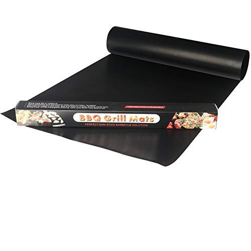 YOWAO Estera para Parrilla, Forro del Horno Teflon Que Cocina Las Esteras (Negro- 6) (259, 180 x 40 cm)