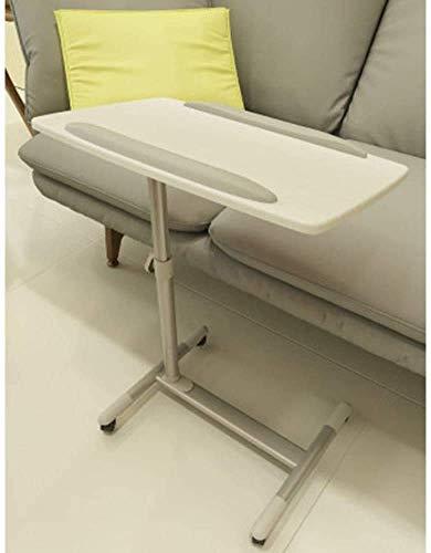YANGLOU-Escritorio de computadora junto a la cama, Tabla portátil Ajustable Mesa de noche sobrealdada, con ruedas para tableta portátil de café, mesa de escritorio portátil de mesa de escritorio y uso