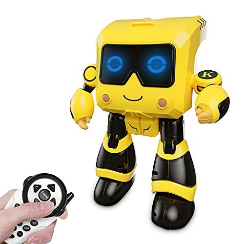 Robot para Niños, Juguete de Robot Recargable Controlado a Distancia con Función de Hucha, Robot Inteligente Educativo STEM con Inducción Táctil, Caminar, Bailar, Contar Historias, Reproducir Música