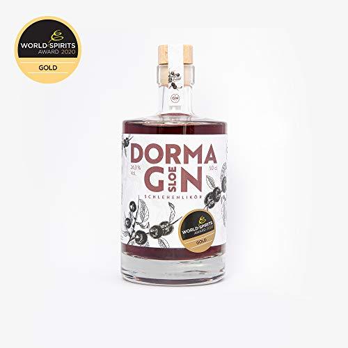 DormaGIN Sloe Gin, Gold Gewinner 2020, Schlehen mit fruchtiger Note aus Zitrus & Ingwer, 1 Flasche 500 ml, 26.3% Vol