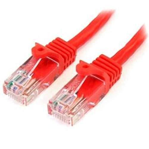 StarTech.com 45PAT1MRD - Cable de 1m Red Fast Ethernet Cat5e RJ45 sin...