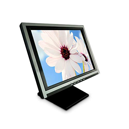 """DONNGYZ HD 15"""" POS LCD Touch Screen Monitor USB Stand for Restaurant Cafe Retail Bar 1024x768 VGA Touchscreen Commercial LED Monitor,Black"""