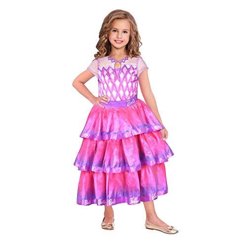 Amscan 9904431 Kinderkostüm Barbie Edelstein Ballkleid Mädchen Rosa 116 cm