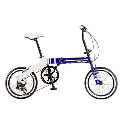 DOPPELGANGER(ドッペルギャンガー) コンパクトフォールディングバイク 16インチ折りたたみ自転車 シマノ6段...