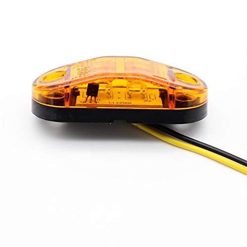 Accesorios de coche 2 unids 12V / 24V LED LED LIGHTER LIGHT LIGHT LIRSE DE COCHE LUZ EXTERNA LUZ AUTOMÁTICA AUTOMÓVIL AUTO TRAILER LÁMPARAS LÁRRICAS AMBER COLOR DE AMBER