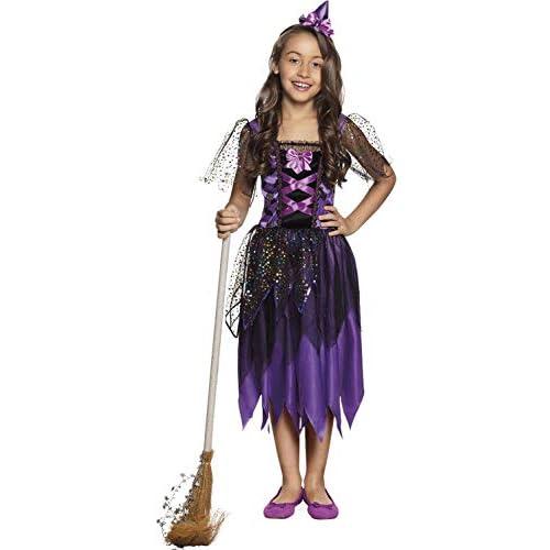 Boland 78124 - Costume da Strega Scintillante, da 4 a 6 Anni, Colore: Lilla/Nero