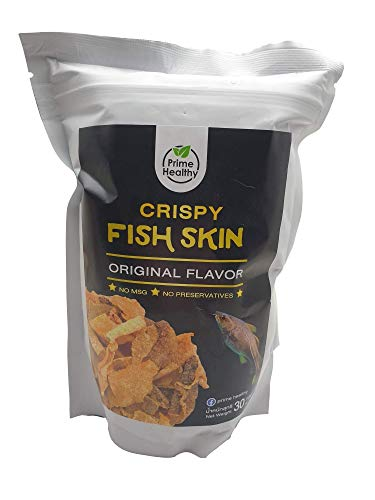 Fish Skin Chips – Pack of 3 Fish Skin Salted Egg Chips – Delicious and Crispy – No-Preservatives Formula – Low-Carb Fish Chips – Tasty Snack Bag for Gatherings or Parties – 30g per Bag (Original Salted Egg)