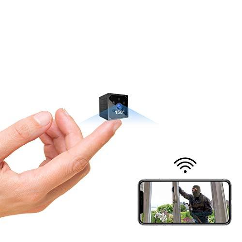 Mini Kamera, KEAN 4K HD Mini Überwachungskamera Lange Batterielaufzeit Kompakte Kleine WLAN Sicherheitskamera für Innen WiFi Minikamera live Handy APP mit Bewegungsmelder Speicher Nachtsichtkamera