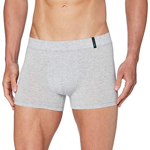 Schiesser Herren Long Life Soft Shorts Boxershorts, Silbergrau-Mel, 6