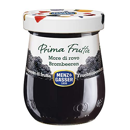 MENZ&GASSER Confettura Extra Prima Frutta Mora Vaso di Vetro, 340G