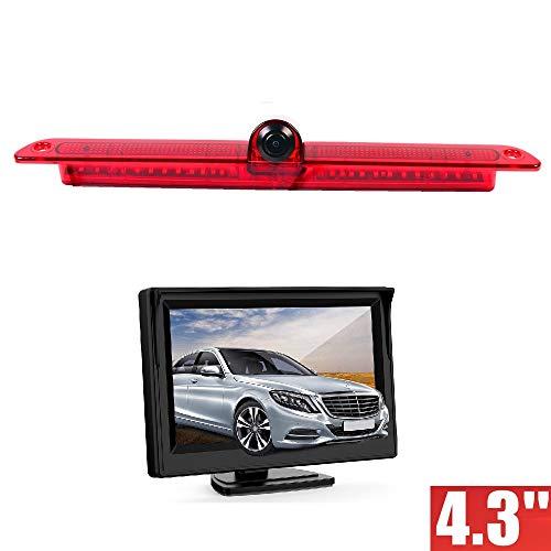 Caméras de recul en 3ème feu Stop INCL. Câble de 10m + Stand-Alone Moniteur 10,9cm (4,3 Pouces) pour Mercedes Benz Sprinter W906 / VW Crafter Transporter