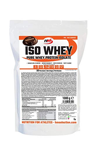 HMSelection ISO WHEY - 100% proteine isolate del siero del latte (cioccolato 1kg)