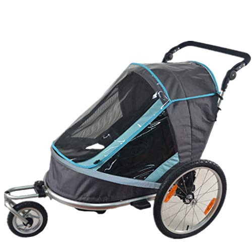 Fold Bicycle Trailer Children Jogging Stroller Combo 2 in 1 Child Jogger Trailer Can Hold 2 Kids Baby Stroller Trailer