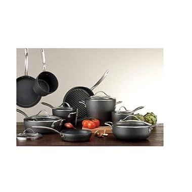 Kirkland Signature™ 15-piece Hard Anodized Cookware Set, Black