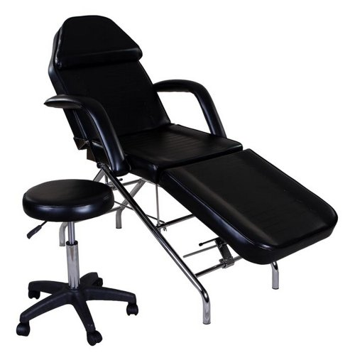 """Icarus""""Hera"""" Black Facial Bed Spa Table Tattoo Chair Bed"""