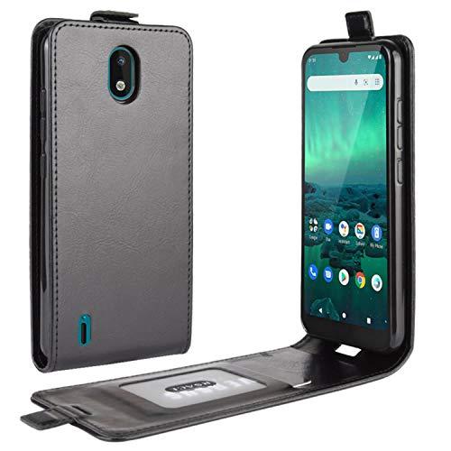 HualuBro Nokia 1.3 Hülle, Premium PU Leder Brieftasche Schutzhülle HandyHülle [Magnetic Closure] Handytasche Flip Hülle Cover für Nokia 1.3 Tasche (Schwarz)