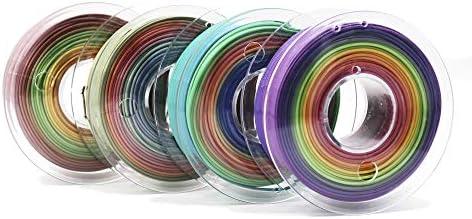 Veeology Premium 3D Printer PLA Filament 1 75mm 250g 4 Color Pack 1kg 2 2lb in Total Fit FDM product image