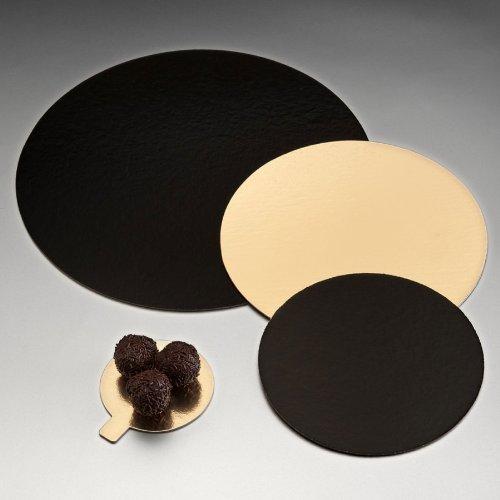 Garcia de Pou 100 unité Deux bacs de côté pour Patisserie, Carton, Or Noir, 30 x 30 x 30 cm