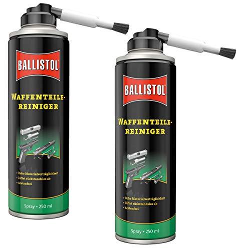 BALLISTOL 2 Stück 250 ml Waffen-Teilereiniger Spray mit Aufsteckpinsel Waffenpflege 23752