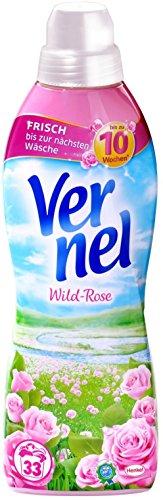 Vernel Wild-Rose, Weichspüler, für einen langanhaltenden Duft (132 (4 x 33) Waschladungen)