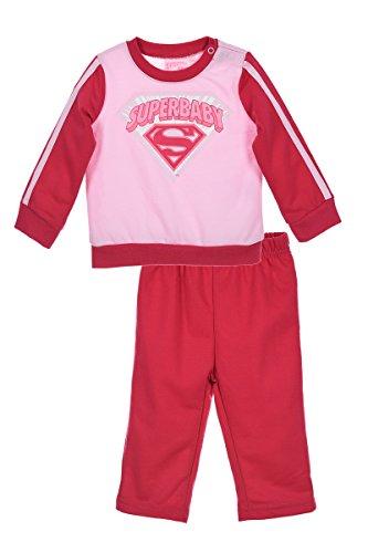 Superbaby joggingpak, voor baby's, meisjes, roze van 6 tot 23 maanden 6mois Roze