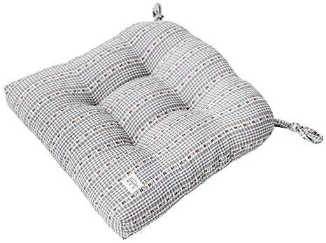 Silla de oficina Cojines y cojines 100% algodón Cojines de asiento grueso suave Pequeño pequeño silla de comedor floral Cojines transpirable sin deslizamiento de asiento cuadrado con vínculos 40x40cm