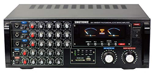 SINGTRONIC KA-1000DSP Professional 1700W Digital Mixing Amplifier with HDMI, Bluetooth Function Send and Receive from Any Smart Devices, Voice Recording Function