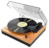 Wiibo - Mustang 1965-BT - Tocadiscos de Vinilo y Bluetooth Vintage - Ideal para Reproducir Discos de Vinilo y Música Desde Dispositivos Digitales Conectados por Bluetooth - Medidas: 33x30x11,8 cm