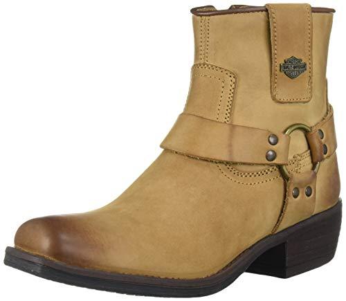 HARLEY-DAVIDSON FOOTWEAR womens Abbington Fashion Boot, Black, 7.5 US