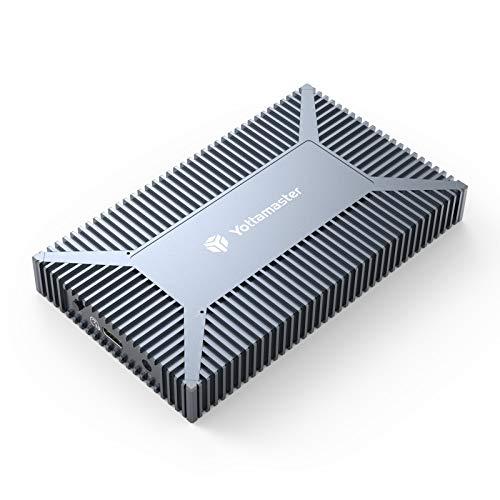 Yottamaster M.2 RAID Gehäuse für M.2 (NGFF) SATA SSD, USB3.1 Typ C 10 Gbps Externe M.2 SSD RAID Gehäuse Unterstützung RAID 0/1, Span (jbod), PM Modi - Bis zu 4 TB, Unterstützung UASP & SMART [SO4]