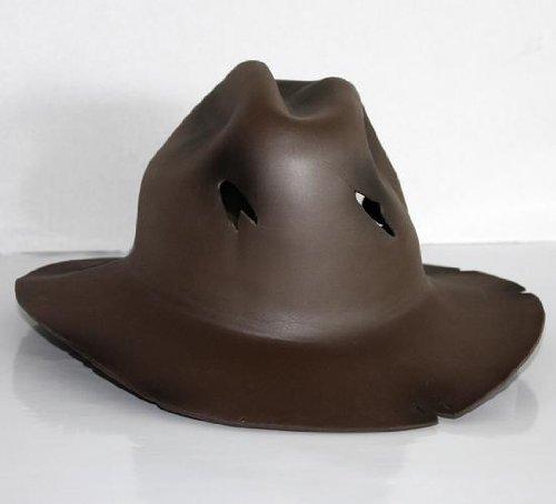Sombrero de Freddy Krueger para disfraz (no incluye máscara, poliuretano, talla única), color marrón