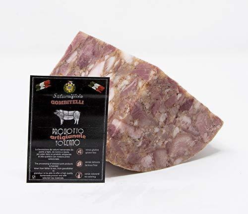 Soppressata -Testa in Cassetta - Coppa di Testa | trancio sottovuoto da 0,7 kg | Salume artigianale Toscano | Salumificio Artigianale Gombitelli - Toscana