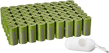 Amazon Basics Scented Dog Poop Bags with Dispenser and Leash Clip 9 x 13 Inches Lavender Scented - 810 Count  54 Rolls