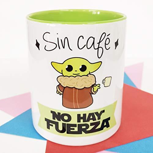 La Mente es Maravillosa - Taza con Frase y Dibujo. Regalo Original y Gracioso (Sin café no Hay Fuerza)